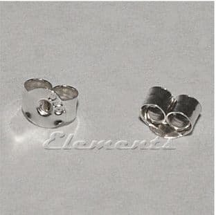 Sterling Silver Stud Butterfly Back Scrolls SF097