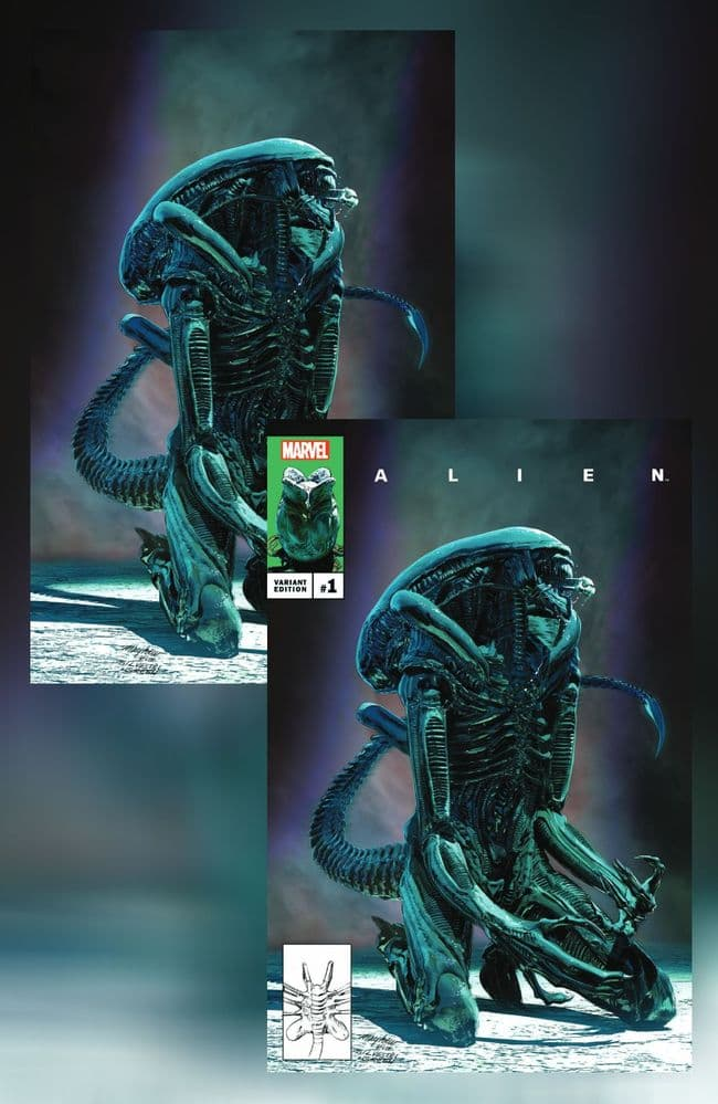 ALIEN #1 MIKE MAYHEW SET OF 2 COVERS TRADE DRESS AND VIRGIN