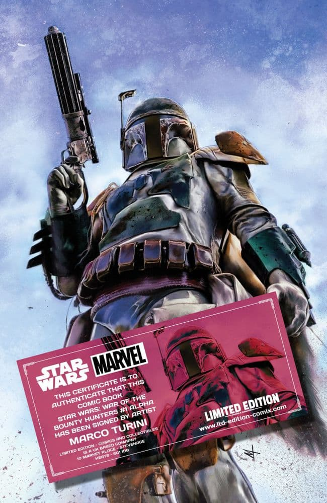 STAR WARS: WAR OF THE BOUNTY HUNTERS #1 ALPHA TURINI EXCLUSIVE SIGNED SIGNED SIGNED