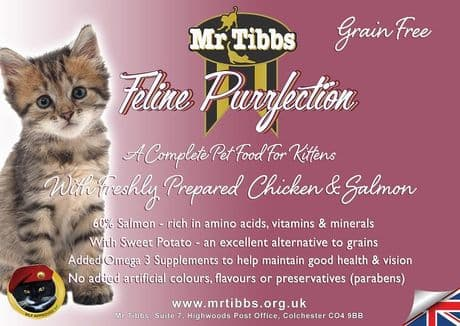 75% CHICKEN & SALMON GRAIN FREE KITTEN FOOD (Also suitable for pregnant/nursing mums) SAVER PACKS