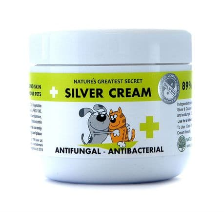 COLLOIDAL SILVER FOR PETS ANTIFUNGAL, ANTIBACTERIAL SILVER CREAM - 100MLS