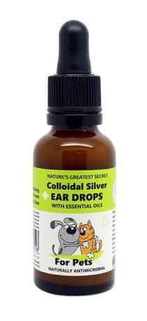 COLLOIDAL SILVER FOR PETS EAR DROPS WITH ESSENTIAL OILS 30ML