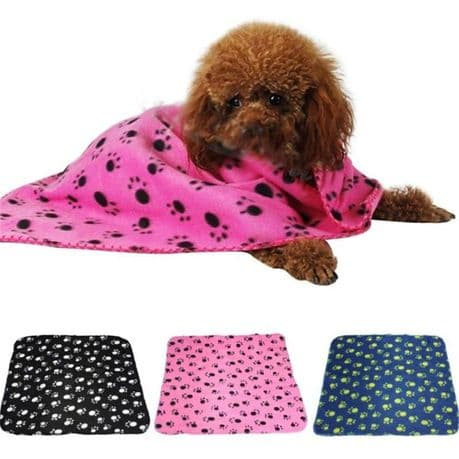 Fleece pet blanket. 5 colours available. Size - M & L