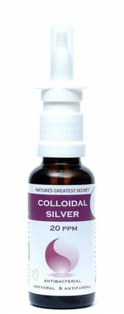 REFILLABLE ENHANCED COLLOIDAL SILVER 20PPM - 30ML NASAL SPRAY