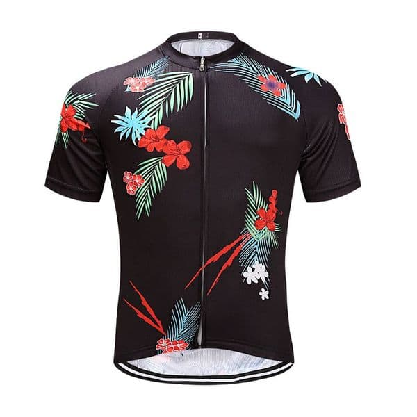 Men's Square Dry Performance Tropical Print Cyle Jersey