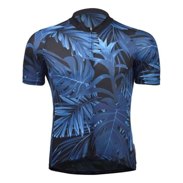 Men's Tropical Print Short-Sleeve Cycling Jersey