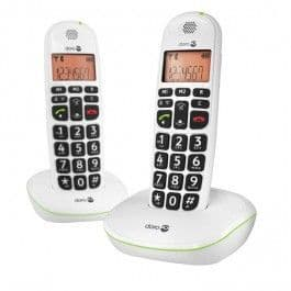 Doro Phoneeasy 100W Duo - Cordless Phone With Caller ID - Dect\Gap - White + Additional Handset