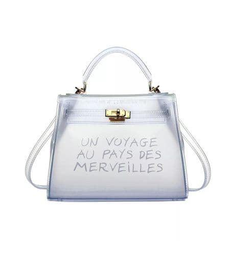 'Un Voyage' transparent tote bag