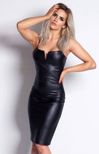 'V' Plunge Neck Bodycon Dress