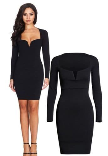 Low Plunge Neckline Dress