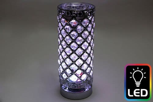 28.5Cm Jewel Led Oil Burner Silver