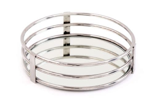 30.5X8Cm Mirror Candle Plate