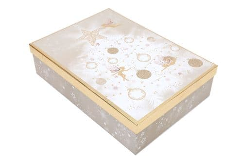 38X27Cm Fairy Gift Box Pink & Gold