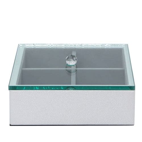 4 Storage Faux Leather Jewellery Box With Lid