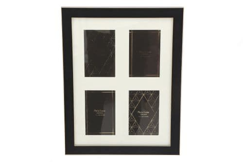 "4""X6 ""Black And Gold Colour Multi Frame"