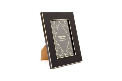 "4""X6"" Black And Gold Colour Photo Frame"
