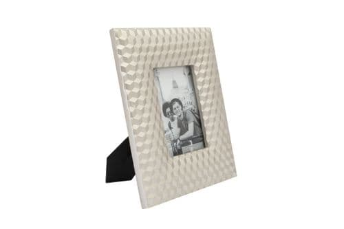 "4""X6"" Geo Embossed Cube Photo Frame"