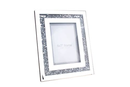 "5""X7"" Mirror Crystal Photo Frame"