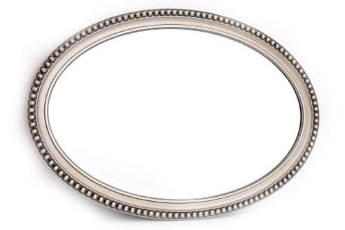 53X79 Oval Mirror Champagne