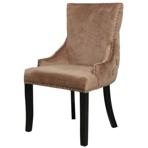 Champion Tufted Dining Chair Gold