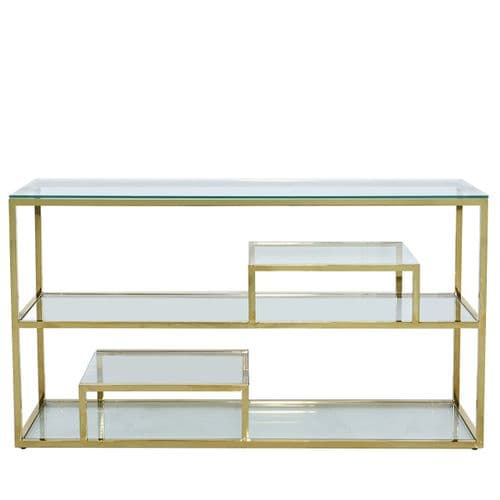Henry Tier Console Table Stainless Steel Gold