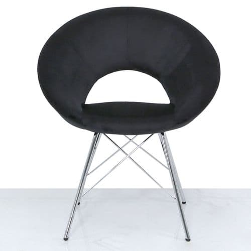 Urban Dining Chair Black Brushed Velvet