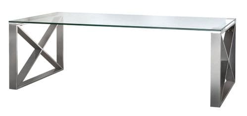 Zen Coffee Table Stainless Steel & Glass