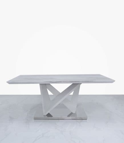 Aston Rect Marble Effect Coffee Table White