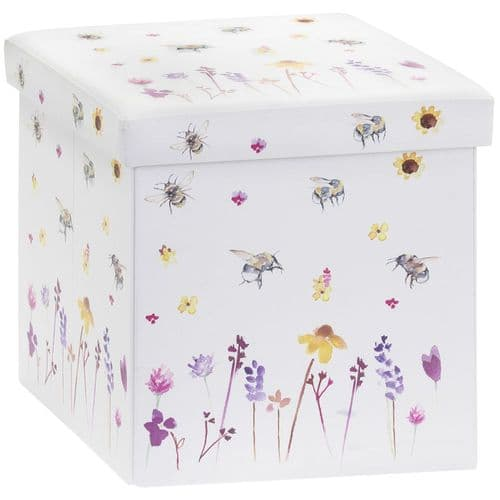 Busy Bee Folding Ottoman Box