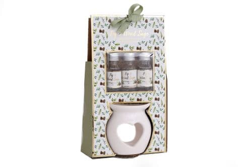 Christmas Fig & Sage Burner & 3 Oils