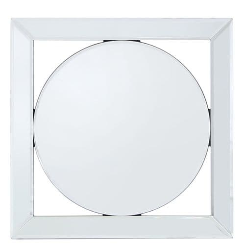Circle Mirror Geo Wall Art 40cm