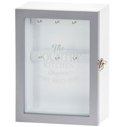 Country Kitchen Grey Key Holder Cabinet