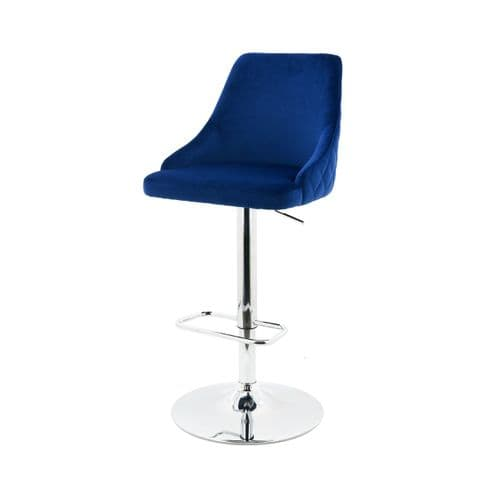 Dalston Barstool Quilted Royal Blue