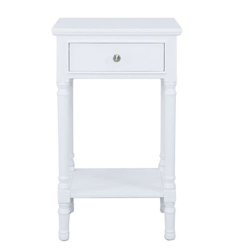 Delia 1 Drawer Telephone Table Large White