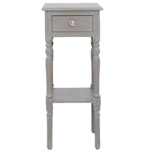 Delia 1 Drawer Telephone Table Taupe