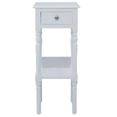 Delia 1 Drawer Telephone Table White