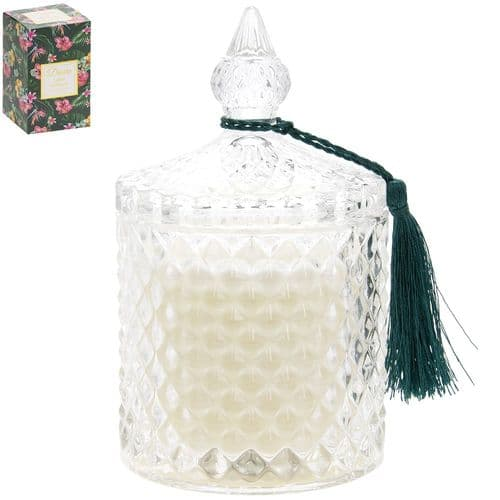 Desire Tropical Candle Glass Jar Green Thread