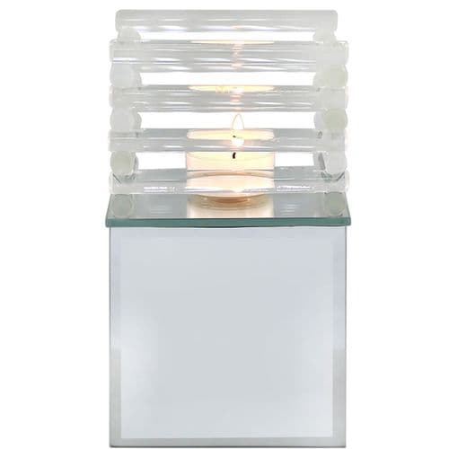 Extra Large Mirror Candle Holder with Acrylic Frame