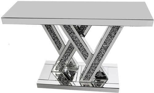 Falcon Crushed Stone Mirror Console Table