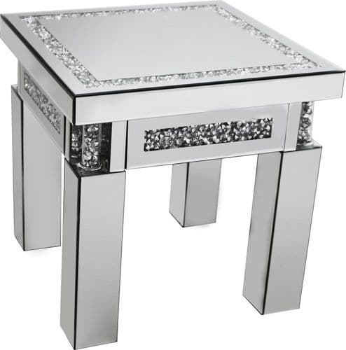 Falcon Crushed Stone Mirror End Table