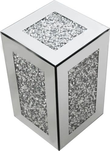 Falcon Crushed Stone Mirrored Cube