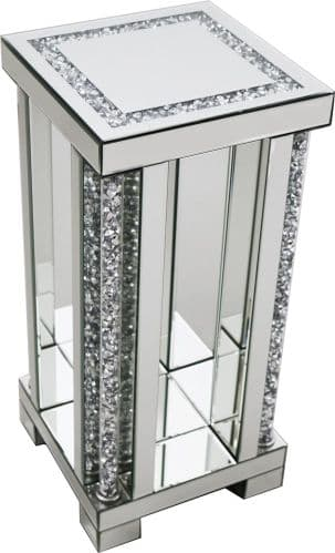 Falcon Crushed Stone Mirrored Lamp Stand Large