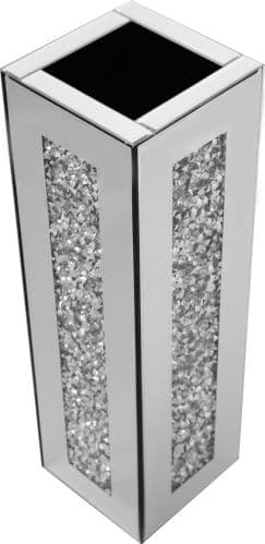Falcon Crushed Stone Mirrored Vase