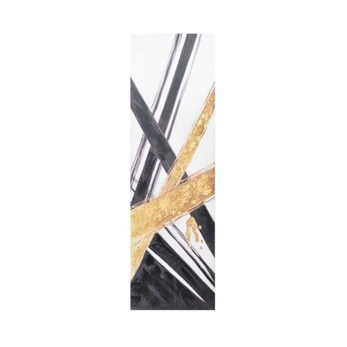 Gold & Black Abstract Wall Art 130x40