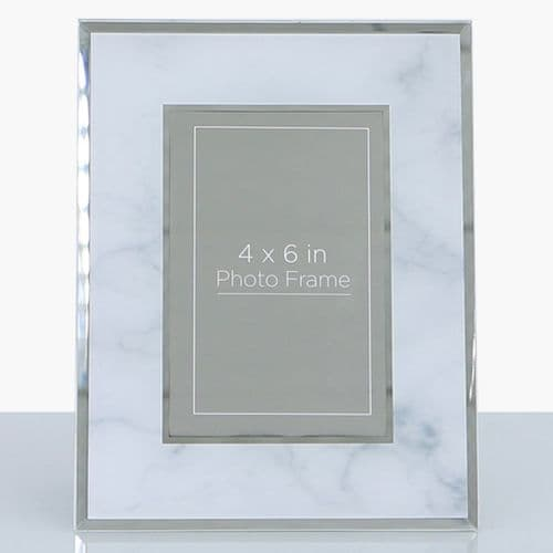 Grey Marble Photo Frame (4in X 6in)