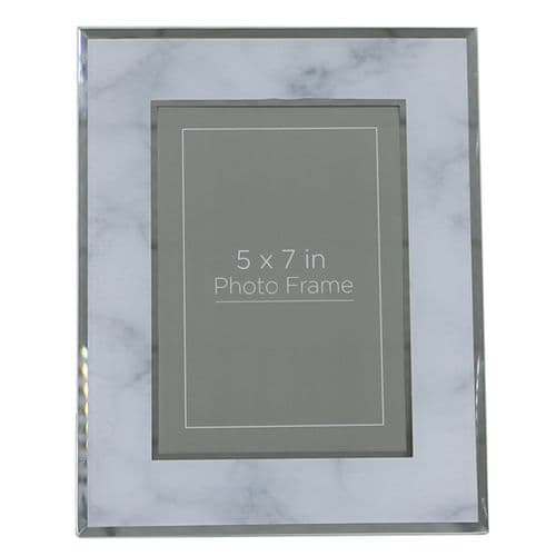 Grey Marble Photo Frame (5in X 7in)