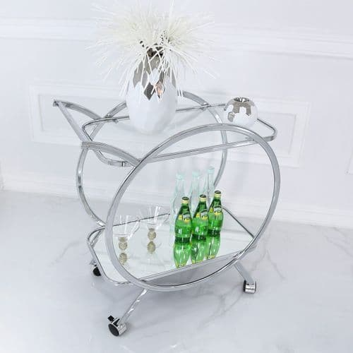 Henry Drinks Trolley In Mirror & Chrome
