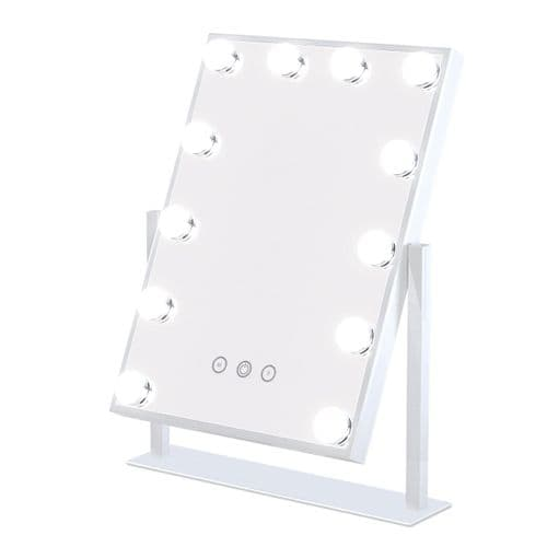 Hollywood Make Up Mirror 12 Bulbs In White