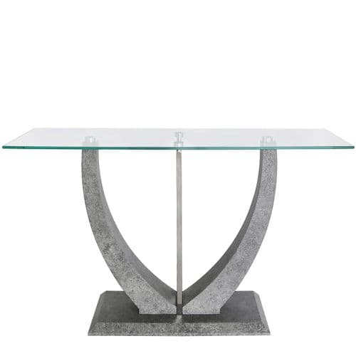 Laura Console Table Grey And Steel