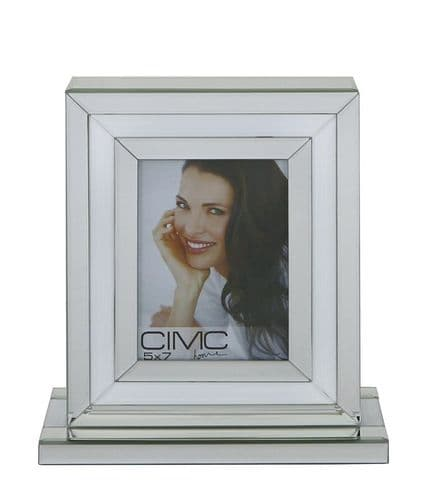 Mitcham Box photo frame white clear 5x7